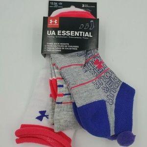 3 Pair Under Armour Girls Socks